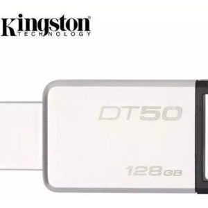 Memoria Kingston 128gb Usb 3.1 Negro Datatraveler 50 Win Mac