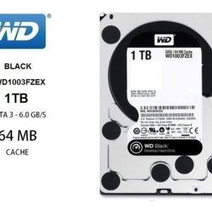 Hdd Interno Wd Black 3.5 1tb Sata3 6gb/s 64mb 7200rpm Gamer