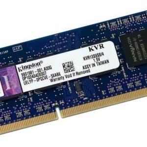 Memoria Kingston Sodimm Ddr3 Pc3-10600 (1333mhz) Cl9, 4 Gb