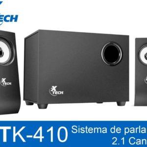 Bocinas Pc Subwoofer Xtech 2.1 Canales 3.5mm 10w Xts-410