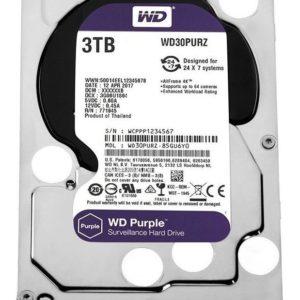 Wd30purz Purple 3.5 3tb Dvr Y Nvr De 1-8 Bahias Y 1-64