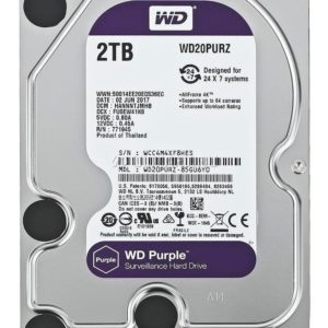 Dd Interno Wd Purple 3.5 2tb Sata3  64mb 24×7 Para Dvr Y Nvr