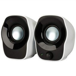 Parlante Logitech Z120 2.0 Usb 1.2w Blanco Negro