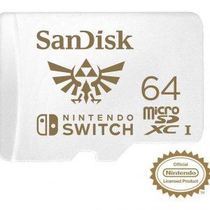 Memoria Sandisk 64gb Micro Sdxc Nintendo Switch 100 Mb/s 4k