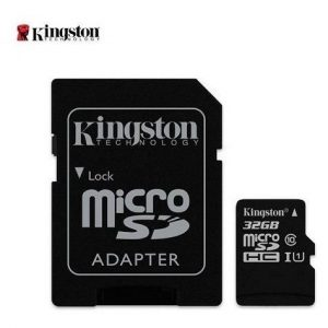 Mem. Micro Sd Kingston 32gb – C/card Adaptador Clase10