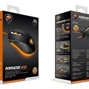Mouse Gaming Cougar Minos X2 – 6 Botones – Rueda – 3000 Dpi