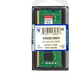 Memoria Kingston Kvr26s19s6 4  4gb  Ddr4  So Dimm  2666 Mhz