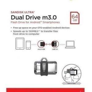 Memoria Sandisk 64gb Usb 3.0 Micro Usb Otg Ultra Dual Drive