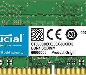 Memoria Sodimm Crucial Ct4g4sfs624a, 4gb, Ddr4, 2400 Mhz, Pc
