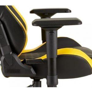 Silla Gaming Corsair T1 Race Cuero Pu Negro Con Amarillo
