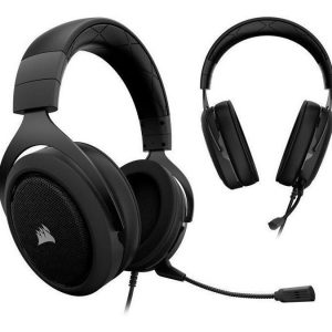 Auricular Corsair Hs50 Gaming Stereo Color Negro Con Carbon