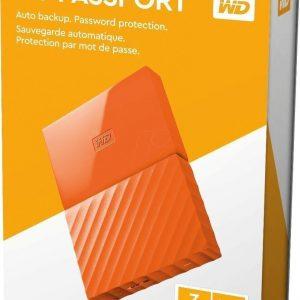 Dd Externo Portatil 3tb Naranja 2.5 Usb3.0 Win Wdbyft0030bor