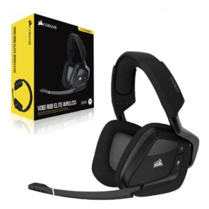 Audífonos Gamer CORSAIR VOID RGB Elite Wireless, Sonido 7.1, Carbon