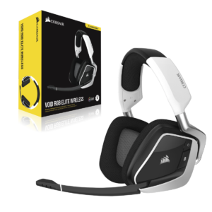 Audífonos Gamer CORSAIR VOID RGB Elite USB, Sonido 7.1, Blanco