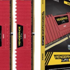 Memoria Corsair Vengeance LPX 16GB (2x8GB) DDR4 3200Mhz C16 Rojo