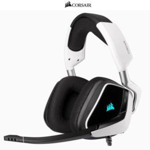 Audífonos Gamer CORSAIR VOID RGB Elite USB, Sonido 7.1, Blanco