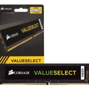 Memoria RAM Corsair VALUE SELECT 1x16GB DDR4 2666Mhz DIMM 288Pin CL18